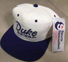 NWT Vtg 90s DUKE Blue Devils Vintage Sports Specialties Script Snapback Cap Hat