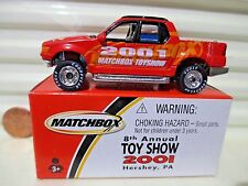 MATCHBOX 2001 HERSHEY TOY SHOW FORD EXPLORER MINT IN DENTED NEAR MINT BOX*