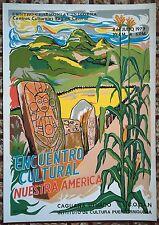 Vera Cortes Taino Indigena Caguana Utuado Poster Serigraph ICP Puerto Rico 1979