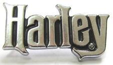 11702 HARLEY DAVIDSON PIN BADGE SILVER CHROME WORD MOTORCYCLE MOTOR BIKE