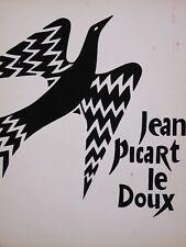 Jean Picart le Doux (1902-1982) Gouache projet originale Colombe de la paix