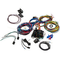 UNIVERSAL WIRING HARNESS KIT 21 CIRCUIT HOT ROD RAT ROD Extra long Wire 17 Fuses