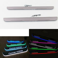 Customized LED Moving Courtesy Light Door Sill Scuff Plate For Chevy Malibu 2018