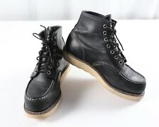 Red Wing 9075 Classic Moc Toe Boots Black Leather 6 Inch Size 7 D $280