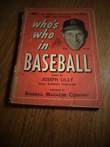 1952 WHO'S WHO IN BASEBALL STAN MUSIAL 37TH EDITION BASEBALL MAGAZINE COMPANY