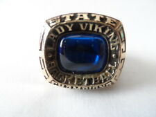 10K Yellow Gold 1993 STATE CHAMPIONS Ring Basketball Lady VIKING size 9.5