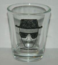 Breaking Bad TV Series Walter White Heisenberg Alias Clear Shot Glass NEW UNUSED