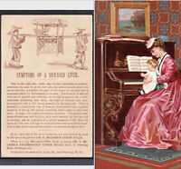 Diseased Liver Cure Chinese Sedan Chair McLanes Pills Piano Victorian Trade Card