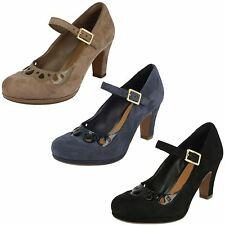 Clarks Suede Slim Heel Shoes for Women