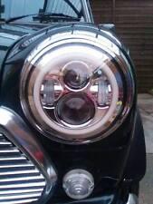 Clásico Mini 7'' cromado LED Faros Anillo De Halo Enchufe Y Juego 1275 1.3