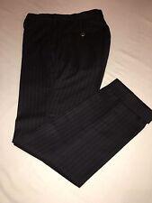 Mabitex Incotex Pantalone Gessato Grigio Scuro Casual Chic Uomo Tg.44-46