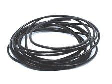 200cm long Black 2mm GENUINE LEATHER Round Cord Bracelet Necklace choker lacing