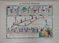 Vintage Rare Imagerie Epinal Pellerin print La Nouvelle Jérusalem INV 2291