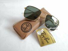 New Vintage B&L Ray Ban Small Caravan Gold RAY-BAN L0226 Square Aviator USA NOS