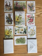 Vtg Hallmark Marjolein Bastin Nature's Sketchbook Itty Bitty Greetings Boxed