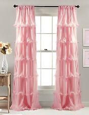 Nerina Window Curtain 84 By 54 InchLush Decor Pink Drapes Ruffle Nursery New