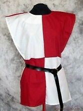 Red  & White Color Medieval Reenactment  Theater Tunic Fancy Style Roman