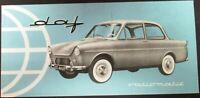 Original 1961 DAF Dealer Sales Brochure Folder Import USA Canada Rare