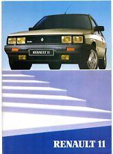 Renault 11 1984-85 UK Market Sales Brochure Turbo Electronic TXE Auto GTD GTL TC