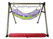 Purple Newborn Baby Nursery Cradle Swing Ghodiyu with Hammock-Quick Set-Up