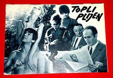 GAME IS OVER 1966 FRENCH JANE FONDA MICHEL PICCOLI  R. VADIM EXYU MOVIE PROGRAM