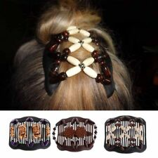Double Hair Comb Magic Beads Stretchy Clip Hair Accessory Butterfly Gift