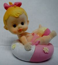 Collectible Figurine 26228 Poly Resin BABY GIRL w/ Beach Ball Gift Shower Cake