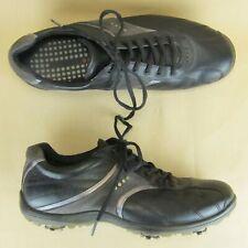 Ecco Golf Shoes Soft Spike US 8 8.5 Men EU 42 Men Leather Black Gray