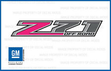 set of 2 - 2016 Z71 Off Road Decals - FHP stickers GMC Sierra Side 4x4 Hot Pink