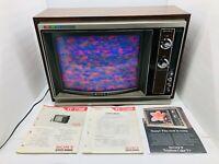 RARE 1972 Sony 17 Inch Trinitron 1730R - Color TV - W/remote - TV works