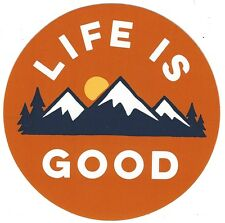 "NEW LIFE IS GOOD 4"" STICKER DECAL HIKING OUTDOOR...SNOWY MOUNTAIN!!"
