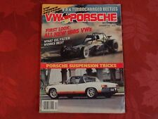 VW & Porsche Magazine 1984 December V-8 AND TURBOCHARGED BEETLES PORSCHE TRICKS