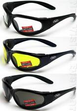 Global Vision 3 Pair Hercules Plus Anti Fog Foam Padded Safety Glasses Z87+