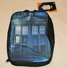 BBC Doctor Who Tardis Police Box Printed Insulated Lunch Box Cooler Bag New