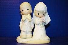 Precious Moments 1983 Wedding Cake Topper Figurine Bride & Groom E-3114 Enesco