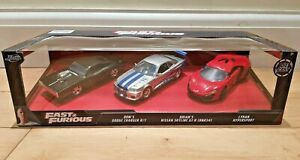 Jada Toys 1:32 Fast and Furious Diecast Cars Buick Toyota Supra Nissan GT-R