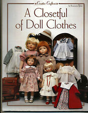 A Closetful of Doll Clothes Pattern Book Rosemarie Ionker Small NEW book