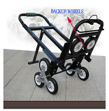 Portable Stair Climbing Folding Cart Climb Hand Truck Backup Wheels