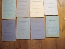 EIGHT BOOKLETS - CUMBERLAND & WESTMORLAND SOCIETY  - J LOWTHER BOUCH - 1916