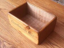 DUBLIN WOODEN CONDIMENTS BASKET/BOX FOR KITCHEN~CAFE~RESTAURANT~PUB~BAR~CATERING