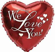 WE LOVE YOU balloon red heart helium foil balloon birthday and other occasions