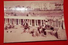 LE TOUQUET PARIS PLAGE DESCENTE DE PLAGE ET HOTEL DE LA MER PAS DE CALAIS 1962