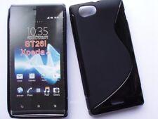 Sony Xperia J  ST26I Etui Housse Coque Souple , S-Line, couleur Noir