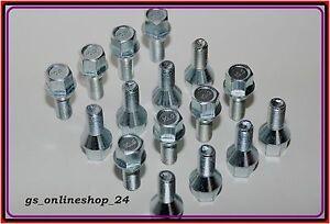 16 Radschrauben Radbolzen  M12 x 1,5 x 22 mm Kegelbund 60° SW 17 NEU