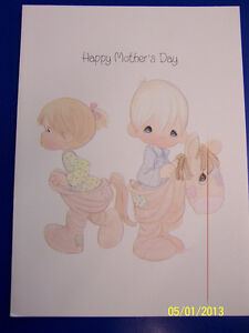 RARE Precious Moments Mother's Day Praise the Lord Holiday Vintage Greeting Card