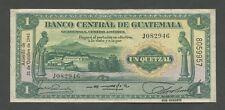 GUATEMALA - 1 quetzal  1945  P14b  VF+  ( World Paper Money )