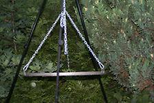 Gartengrill Schwenkgrill Dreibein Holzkohlegril Höhe 200cm Fläche 70cm Garten