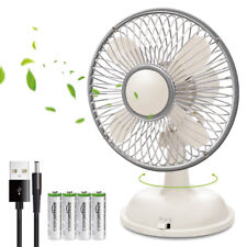 E-books K18 5-Inch Extra Quiet USB/Battery Personal Desktop Fan 2 Speed - White