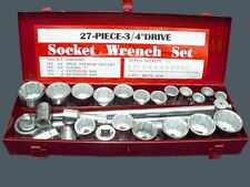 SOCKET DRIVE SET METRIC & IMPERIAL 3/4in Dr. SOCKET SET 27pc