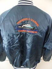 Tidewater Marine Towing Division Tug Boat Vintage XL Button Front Poly Jacket